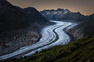 Aletsch Glacier Sunset