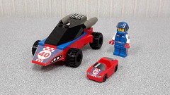 LEGO Rocket Racer's Car - by DRY1994 (DRY1994) Tags: lego racers game rocket racer minifigures series 18 car 2018 redwhite blueracecar 40 race rr moc