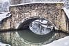 le pont  HDR XT2 DSCF1157 (mich53 - thank you for your comments and 5M view) Tags: 4winter saisons bridge vaucouleurs france riverside rivière manteslaville xf1655mmf28rlmwr xt2 îledefrance snow arbres hiver pont pierres reflets