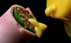 Macro Mondays - condiment (DeZ - photolores) Tags: macro macromondays condiment mustard babycucumber meatloaf hdr dez design tamron90mmf28 nikond610 crushedblackandchilliredpeppers