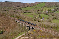 150001 - Clinnick Viaduct. (37670nat) Tags: 150001 2a86 firstgwr class150 class1500 clinnickviaduct cornishmainline dronecamera