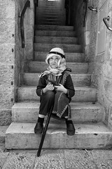 Dressed up (michael.mu) Tags: jerusalem jewishquarter purim theleicameet leica m240 35mm leicasummicron35mmf20asph streetphotography bw blackandwhite monochrome carnival costume