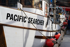 Pacific Searcher (Sworldguy) Tags: steveston fishboat marina bouy dock ropes rigging sony a7iii richmond