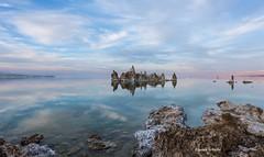 Ethereal beauty (Photosuze) Tags: landscape california monolake sky clouds tufa reflection water lakes