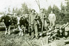 Logging Crew (John M Poltrack) Tags: newipswichhistoricalsociety newipswich newhampshire unitedstates us oxen logging sawmill 1900s kidder mountain