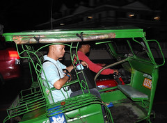 Dumaguete Siquijor trikes and transport-12 (walterkolkma) Tags: walterkolkma dugaguete siquijor philippines transport traffic tricycles trikes night nikoncoolpixp900