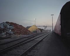 (laurentgaudart) Tags: kehl strasbourg hafen mamiya7ii laurentgaudart photography scrap iron rail port portuaire industrie industry industrial industriel paysage landscape