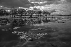 Glace et nuages (Patrice StG) Tags: pentax pentaxart sigma18300 québec fleuve fleuvestlaurent stlaurent stlawrence stlawrenceriver glace ice gimp bw nb noiretblanc blackandwhite