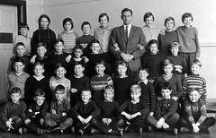 Class photo (theirhistory) Tags: children boys kids school class form girls teacher trousers jacket jumper wellies rubberboots shoes