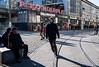 Sliding on the Rails (The Street Sniper) Tags: tram trainstation rails deutschland germany 1855mm kitlens xe3 fujifilm fuji funny skate mite street streetphotography people man men alexanderplatz berlin