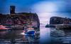 Safe Harbor (RaeofGold) Tags: peeblespairphotography dunbar scotland eastcoast coastal harbor suethoele tota texture totatexture fishingboats raeofgoldstudio
