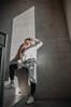 MRGRT-12 (qauqe) Tags: nike air force 1 af1 street urban jjstreet dance company hip hop hiphop house nikon d40 white locks portrait woman girl teenager tallinn estonia elevator stairway photography black bw graffiti stretshopone classics camo cityscape skyscraper