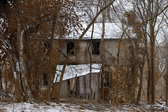 Abandon (It's my whole damn raison d'etre) Tags: abandon urban explore urbex snow woods trees house overgrown ruin loudoun county va virginia nikon d810 alex erkiletian