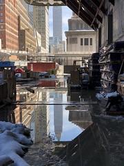 IMG_2814 (mwelsch70) Tags: manhattanwest union construction iphonex empirestatebuilding reflections building nyc
