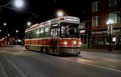 TTC route 306 Gerrard St night (bishop71701) Tags: ttc clrv toronto streetcar strassenbahn college carlton night city torontotransitcommission