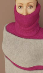 Fluffydoll109 (Triss Meredith) Tags: misstriss fluffydoll wool angora mohair scarf turtleneck sweater