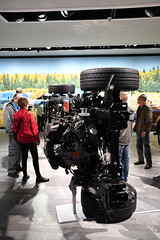 Ford F150 chassis -- 2018 North American International Auto Show (Corvair Owner) Tags: north american international auto show detroit michigan mi mich new car display automobile truck suv crossover manufacturer january 2018 cobo arena hall center winter ford f150 chassis