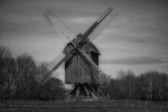 Windmills... (hobbit68) Tags: windmills windmühlen trees baum bäume sky himmel couds wolken zaun blackwhite schwarzweiss