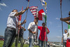Farm Workers March Against Immigration Raids (baconphotosandstories) Tags: protest workers work migrants immigrants labor mexico mexicans children child parent family union march demonstration farmworkers unitedfarmworkers ufw antiimmigrant raids immigrationraid salinas ca usa