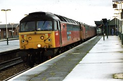 47761 at Didcot (TutorJohn72) Tags: class 47 locomotive didcot parkway station 1999 rail express systems livery tpo