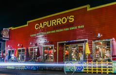 capurro's (pbo31) Tags: sanfrancisco california nikon d810 color april spring 2018 boury pbo31 lightstream motion traffic roadway fishermanswharf night dark red