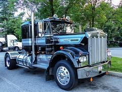 Cummins V8 Powered Kenworth Semi Tractor (J Wells S) Tags: kenworth kw cumminsv8dieselengine chrome conventional sleepercab semitractor truck bigrig 18wheeler atca antiquetruckclubofamerica macungietruckshow macungie pennsylvania macungiememorialpark camiones lorry hawthornsuitesmotel fogelsville