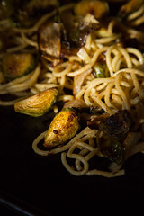 cocoa nib & brussels pasta (tuten-rhodes) Tags: comfortfood pasta brusselssprouts