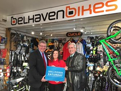 Visiting Belhaven Bikes for Small Business Saturday