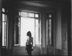 A. (Bertrand Carrot Film Photographer) Tags: linhof 4x5 papier positif 3iso elinchrom urbex window woman