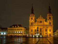 Ludwigsburg bei Nacht (jomobil) Tags: landmark night sky church basilica en town city ludwigsburg badenwürttemberg deutschland de