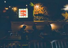 Dinner at Golden West (Cheryl Atkins) Tags: restaurant xt2 fuji nightphotography color streetphotography streetshot
