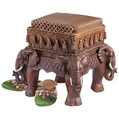 Royal Elephants Designer Footstool (mywowstuff) Tags: gifts gadgets cool family friends funny shopping men women kids home