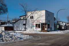Jemy's Grocery (bryanscott) Tags: architecture building hoarfrost manitoba northend snow winnipeg winter canada ca