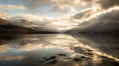light at loch leven (akh1981) Tags: scotland nikon manfrotto reflections landscape beautiful outdoors glencoe walking sunrise travel nature amateurphotography mountains