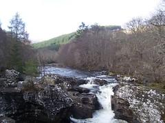 Invermoriston Falls, Invermoriston, Feb 2018 (allanmaciver) Tags: invermoriston falls scotland water viewpoint trees rocks allanmaciver