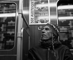 - the dropout - (-wendenlook-) Tags: sw bw monochrome street streetphotography urban berlin ubahn subway panasonic dmcg3 2017 40mm 160 f17 iso160