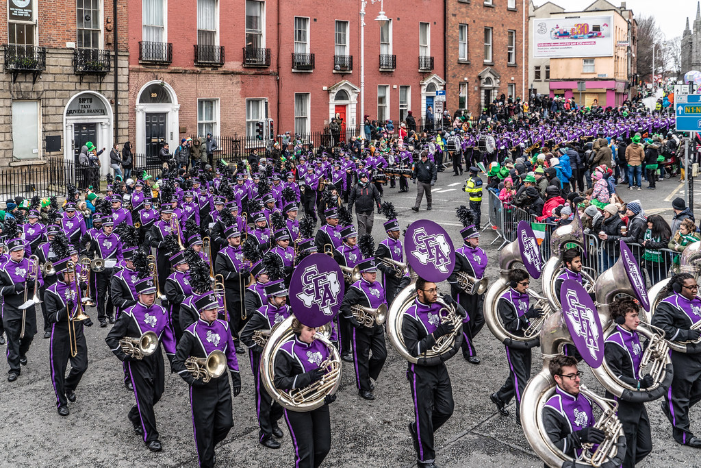 THE LUMBERJACK MARCHING BAND IN ACTION [ ST. PATRICKS DAY PARADE IN DUBLIN 2018]-137582