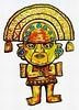 Peruvian Artefact (Lindsaywhimsy) Tags: ancient peruvian artefact pen ink gold markers gelpens illustration mixedmedia