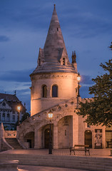 Fisherman's bastion at blue hour (Vagelis Pikoulas) Tags: blue hour lights budapest buda hungary travel architecture europe 2017 september autumn