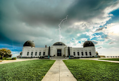 Griffith Park Observatory Struck With Lightning! Summer Thunderstorm! Los Angeles Fine Art Landscape & Nature Photography: Light Beams & Dr. Elliot McGucken Epic Fine Art! (45SURF Hero's Odyssey Mythology Landscapes & Godde) Tags: griffith park observatory struck with lightning summer thunderstorm los angeles fine art landscape nature photography light beams dr elliot mcgucken epic seacave sunsets high resolution malibu sunset ocean seascape sea cave beach california socal nikon afs nikkor 1424mm f28g ed d800e wideangle
