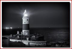 Europa Point Lighthouse (Deek Wilson) Tags: trinitylighthouse europapointlighthouse gibraltar straitofgibraltar lighthouse therock mono black white bw mediterraneansea rockofgibraltar gib nightphotography night afterdark