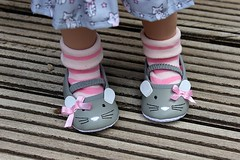 Cute new shoes.... (dambuster01) Tags: zwergnase junior 55cm vinyl doll playdoll shoes primark baby size0 mice 2018