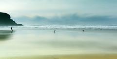 Walk on by, walk on by (Bruus UK) Tags: mawganporth coast cornwall marine beach beachlife dogs dogwalking strolling sand atlantic ocean surf cliffs clouds seascape landscapephotography living walking northcornwall