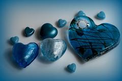 The Blues - Macro Mondays (Crisp-13) Tags: macromondays theblues macro mondays the blues bead glass heart blue