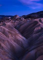 Zabriskie Point Area at Twilight, Amargosa Range, Death Valley National Park, California 2018 (bdrameyphotography) Tags: deathvalleynationalpark deathvalley zabriskiepoint california twilight bluehour amargosarange nikond810