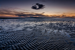 Solway Sunset (Daniel Coyle) Tags: solwaysunset rspbcampfieldmarsh rivereden river eden solway cumbria scotland dumfriesandgalloway rspb marsh sunset cumbriasunset carlisle leadinglines sand mud mudflats sun clouds horizon danielcoyle nikon nikond7100 d7100 reflections coast sea beach uk england