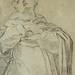 RENI Guido,1613 - Gloire de Saint Dominique, Etude (drawing, dessin, disegno-Louvre INV8910) - Detail 03