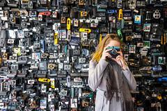 Dream (CoolMcFlash) Tags: person camera retro dream flickrfriday analog woman portrait wall fujifilm xt2 kamera frau wand foto photo fotografie photography xf1024mmf4 r ois vintage background hintergrund 25hours