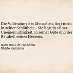 Die Vollendung des Menschen (2) - Zitat Horst Bulla thumbnail