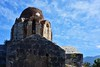 Bare dome (orientalizing) Tags: 12thcenturyad abandoned byzantine church churchofvlacherna greece mani mezapos ruins